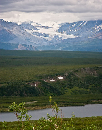 Gulkana Glacier as viewed from Denali Highway