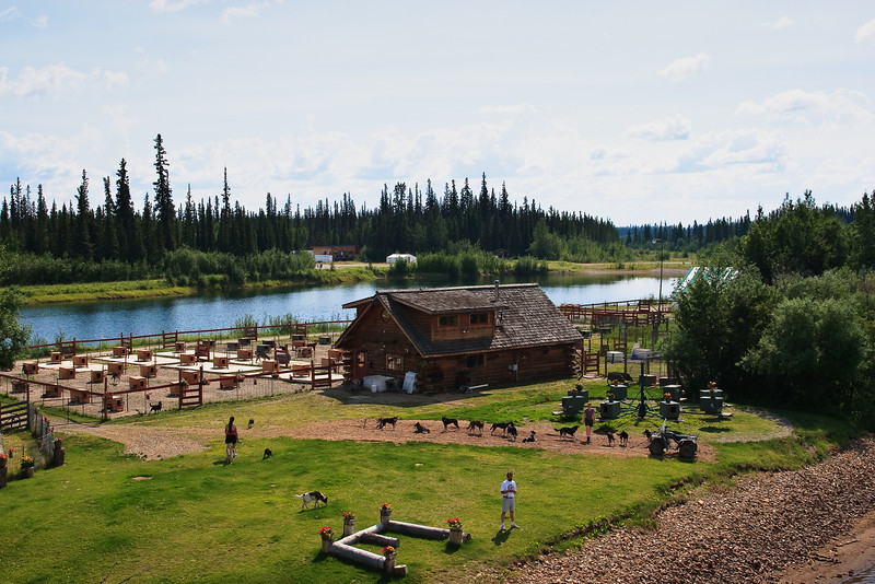 Home and kennels of the late, four-time Iditarod champion Susan Butcher