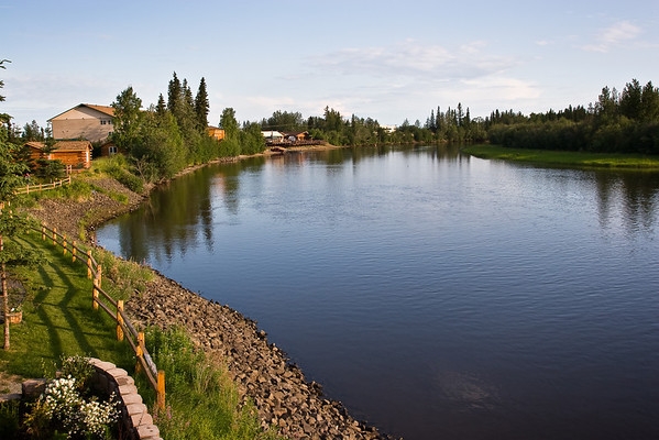 Chena River view from Princess Fairbanks hotel
