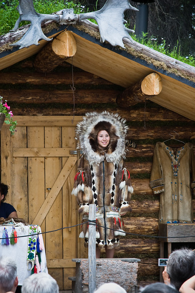 Athabascan beadwork decorates animal hide garments