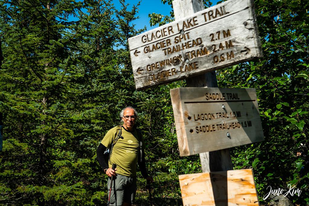 Glacier Lake Trail splits