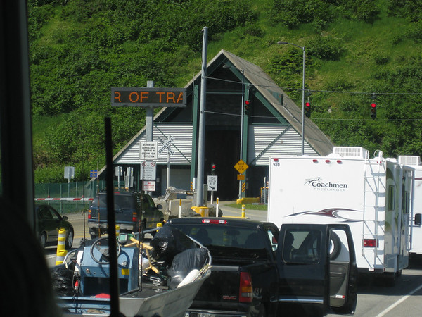 Entrance to the Whittier Tunnel