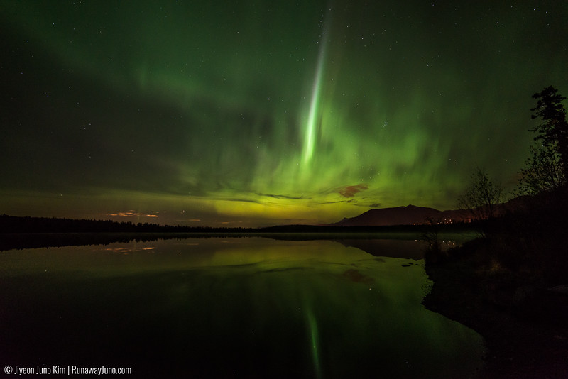 Northern Lights in Beach Lake