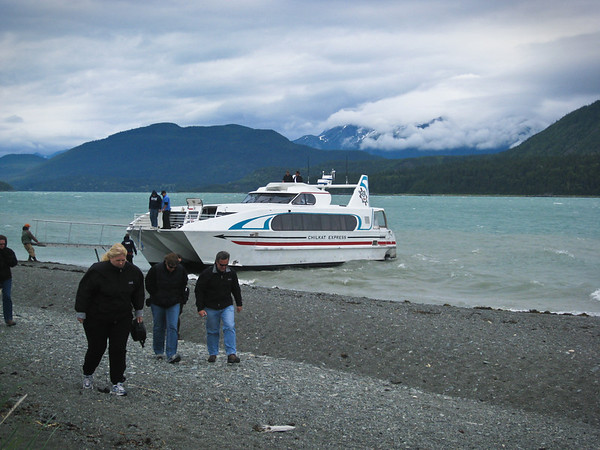 From Skagway, we took a 1/2 hour boat ride to a remote island