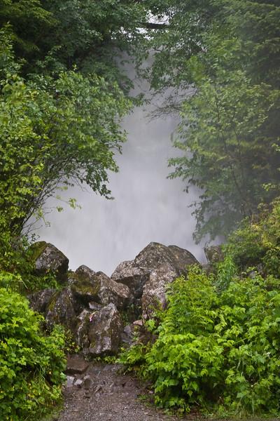 Roadside waterfall in Ketchikan