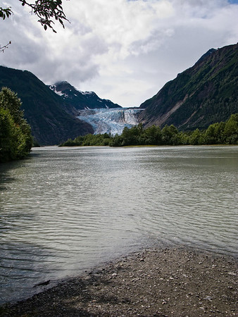 We canoed to the Davidson Glacier