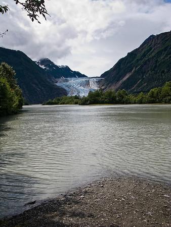 We canoed to the Davidson Glacier