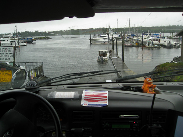 Duck tour entering Ketchikan waters