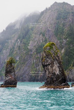 Rock fingers at the Kenai coast
