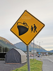 Traffic sign in Seward