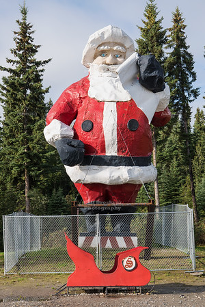 Santa Claus Statue in North Pole Alaska