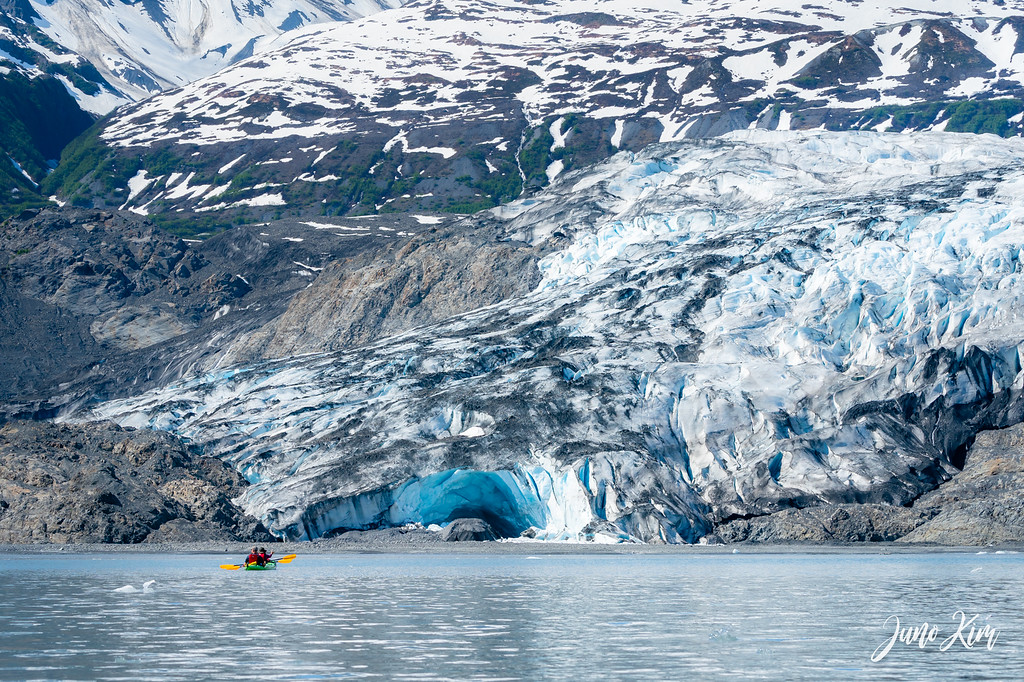 Kayaking in Shoup Bay to Shoup Glacier