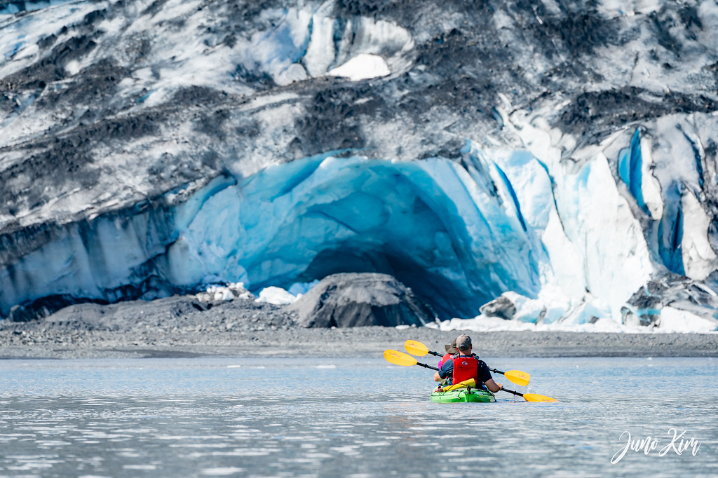 A big ice cave in Shoup Glacier
