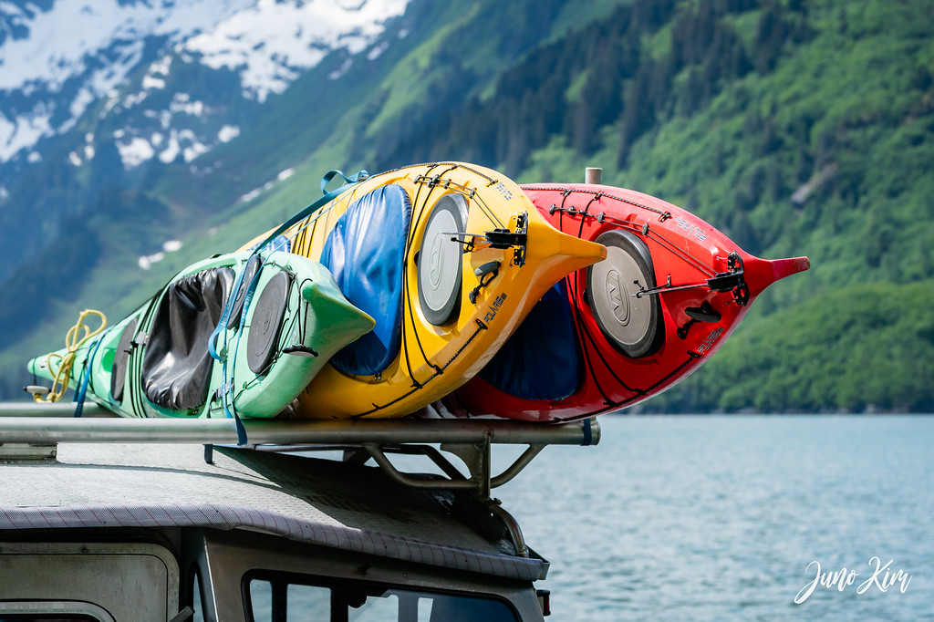 Love the colors of kayaks