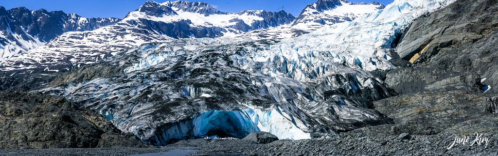 Shoup Glacier on a sunny day