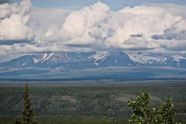 Wrangell St. Elias National Park as viewed from Princess Copper River Lodge
