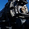 The 520 is a Pennsylvania Railroad steam locomotive resting in the Railroad Museum outside of Strasburg.