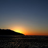 The sun goes down on Turnagain Arm.