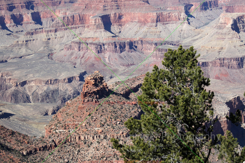 Grand Canyon Battleship<br /> View from the Grand Canyon Village (South Rim)