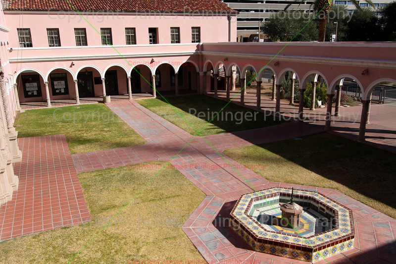 Courtyard of Pima County Courthouse