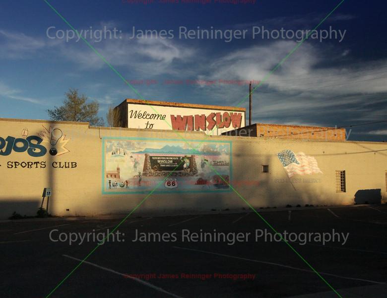 """Standing on the Corner of""<br /> Winslow, Arizona"