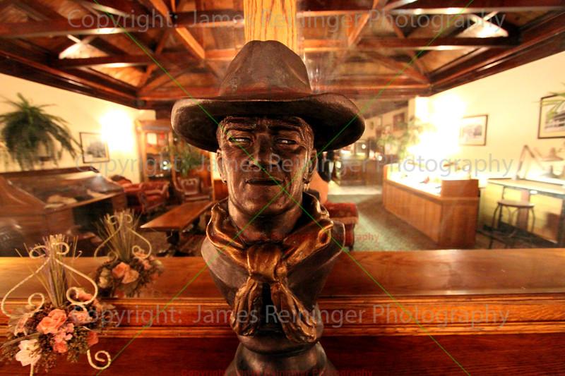 Bust of John Wayne<br /> The Copper Queen Hotel<br /> Bisbee, Arizona