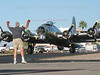 Parking a B-17 Flying Fortress