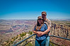 Carolina and Martin at Desert View Point with the Grand Canyon in the background