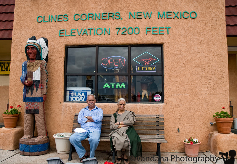 K's parents at Clines Corner, NM