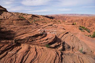 Layered rocks at Glen Canyon