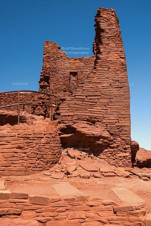 Sinaqua Ruins of the Wukoki pueblo in Wupatki National Monument
