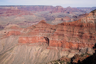 Breathtaking view into Grand Canyon