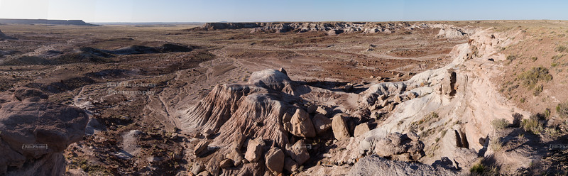 Panoramic view at the Painted Desert