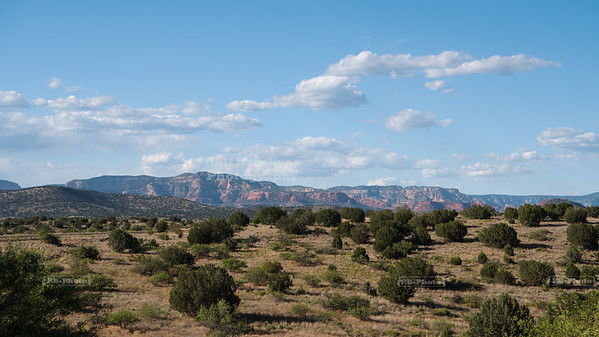 The red rocks of Sedona in the distance
