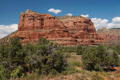 Courthouse Butte in Coconino National Forest