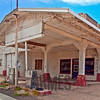 Disused gas station, Route 66, Peach Springs, Arizona, USA