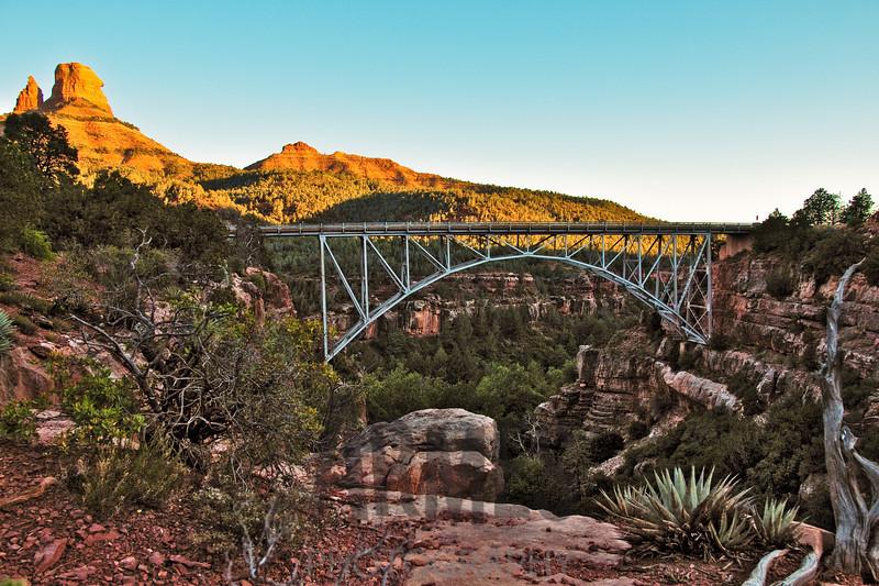 Midgley Bridge and the Red Rocks, Sedona, Arizona, USA