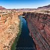 View of Marble Canyon and the Colorado River from Navajo Bridge, Arizona.