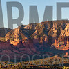 Panorama at sunset from Airport Mesa, Sedona, Arizona
