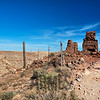 Ruins of Daniel Moreau Barringer's house built in the early 1900's on the rim of Meteor Crater, Winslow, Arizona, USA