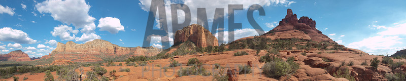 Panorama from Telephone Trail, Sedona, Arizona (six images stitched)