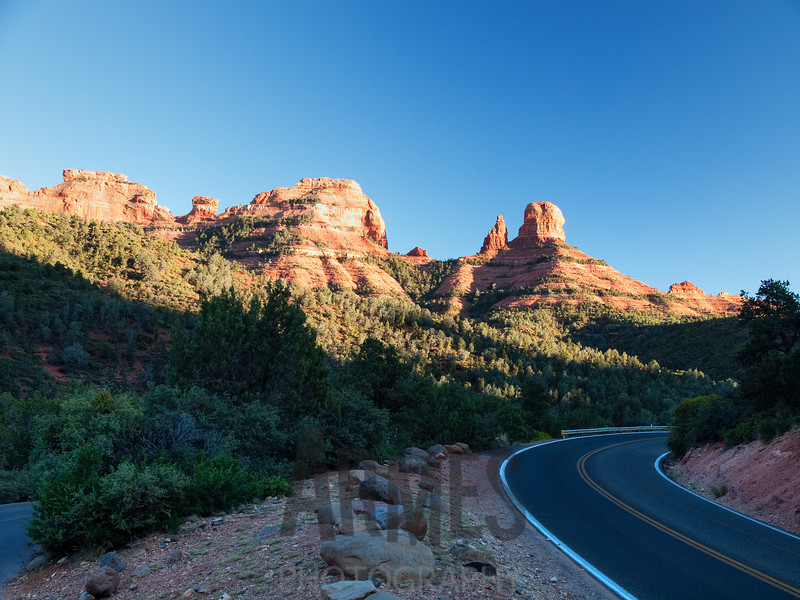 Approach to Sedona via the AZ 89A road, Arizona, USA
