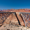 Navajo Bridges spanning Marble Canyon, Colorado River near Page, Arizona