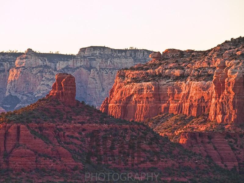Sunset view from Airport Mesa, Sedona, Arizona