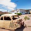 Abandoned gas station, Route 66, Valentine, Arizona, USA
