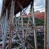 Midgley Bridge with Steamboat Rock in the background, Sedona, Arizona