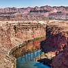 View of Marble Canyon and the Colorado River from Navajo Bridge, Arizona