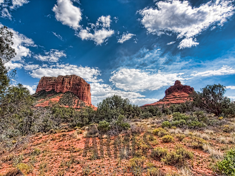 Courthouse Rock and Bell Rock, Sedona, Arizona