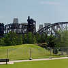 Rock Island Railroad Bridge crossing the Arkansas River<br /> Little Rock, Arkansas, USA