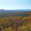 The low mountains of North-Western North Carolina in the autumn.
